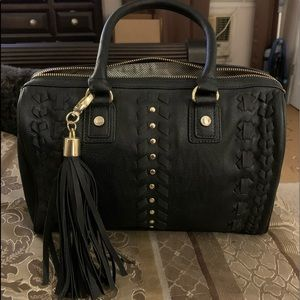 Steve Madden Black w/ Gold Studs Satchel Bag NEW